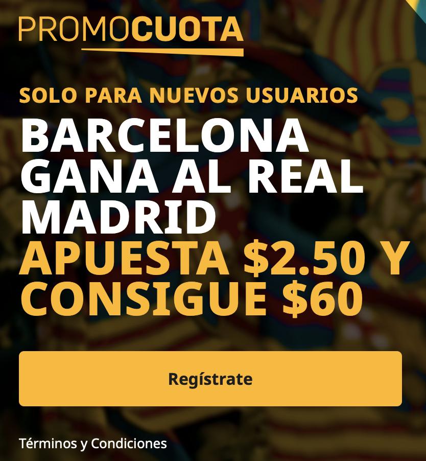 Supercuota betfair Latam FC Barcelona - Real Madrid